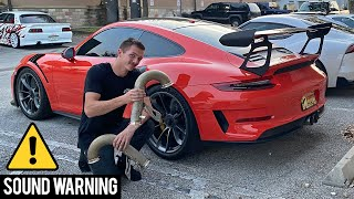 GT3RS Straight Piped! (Very Bad Idea!)