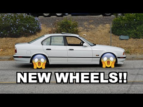 NEW WHEELS FOR MY BMW 540I !!!