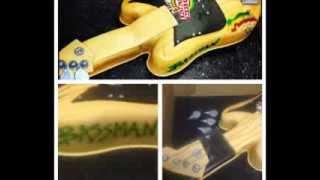 """MoTasteekakes  Custom fondant cakes  """"Fergie-Velvet"""""""