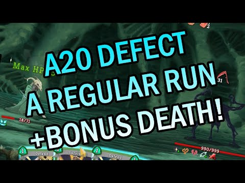 One Run + Bonus Death! | Ascension 20 Defect Run | Slay the Spire