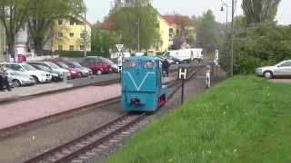 preview picture of video 'Schmalspur Diesellok rangiert in Moritzburg/ narrow gauge shunting loco at Moritzburg'