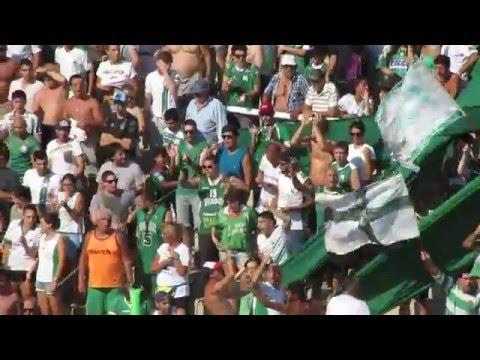 """""""FERRO VS DH - 6-2-16 recibimiento de la hinchada"""" Barra: La Banda 100% Caballito • Club: Ferro Carril Oeste"""