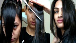 How To Cut Your Own Hair At Home | Side Swept Bangs Easily At Homeआगे के बाल कैसे कट करें? Priyadeep