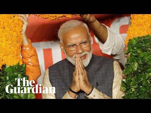Hindu nationalist leader Narendra Modi claims landslide victory in Indian election