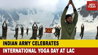 International Yoga Day 2020: Indian Army Soldiers Perform Yoga On LAC Amid Faceoff With China - Download this Video in MP3, M4A, WEBM, MP4, 3GP