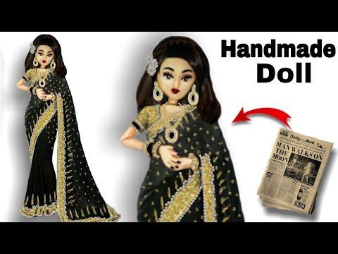 How To Make Handmade Doll   DIY Barbie Doll   Doll Hacks   FunX Creation