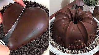 Fancy Chocolate HEART Cake Decorating Ideas   Delicious Chocolate Cake Recipes   So Yummy Cake