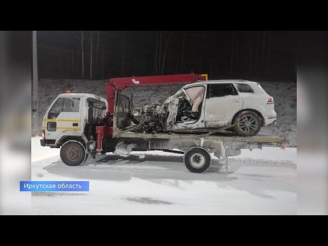 Снегопад и гололёд обострили ситуацию на дорогах Приангарья