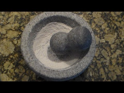 Conditioning Granite Mortar and Pestle