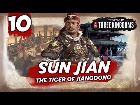 THE EMPEROR WITHIN REACH! Total War: Three Kingdoms - Sun Jian - Romance Campaign #10