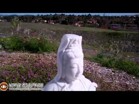 SOLD White Marble Kwan Yin Statue 32