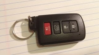 DIY How to Change / Replace Smartkey Keyfob BATTERY on a 2013 Toyota Rav4 Avalon Camry HYQ14FBA