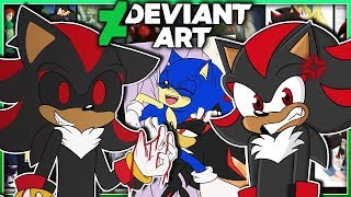 Shadow.EXE & Shadow Visit DEVIANTART! - SHADOW.EXE KISSING SONIC?!