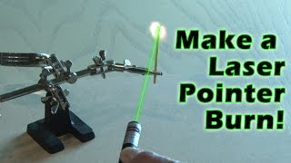 Make A Laser Pointer Burn!