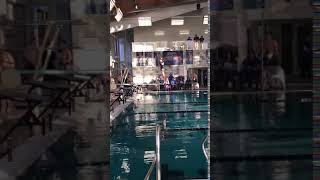 Katherine Marquardt inward 1 1/2 somersaults pushed her into a 2nd place finish! #ClawsUp!