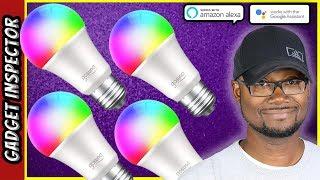 EASY SETUP Smart WiFi LED Light Bulbs | Works with Alexa & Google Assistant