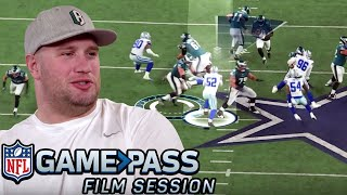 Lane Johnson Breaks Down Blocking Angles, Hand Placement, & More | NFL Film Session