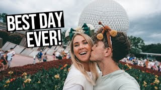 Celebrating Our Wedding Anniversary At DISNEY | Park Hopping Disney Worlds Hollywood Studios & Epcot