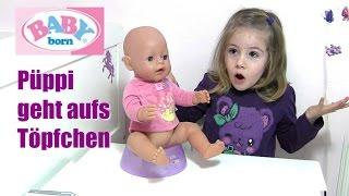 Hannahs BABY born Püppi geht aufs Töpfchen und bekommt eine neue Windel   Zapf Creation