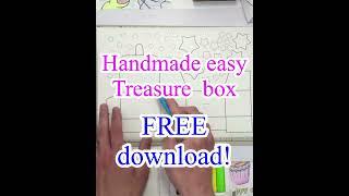 宝箱の無料おもちゃペーパークラフト工作作り方動画