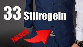 33 STILREGELN Für Männer | Mode & Etikette