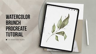 Procreate Watercolor Tutorial • Watercolor Leaves Illustration • Ipad Watercolor Painting