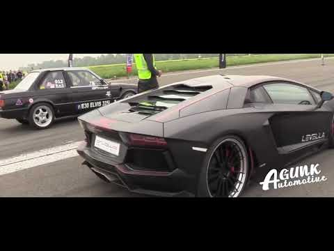 Amazing 725HP BMW 325i E30 Turbo vs Lamborghini Aventador LP700 4  #AgunkAutomotive