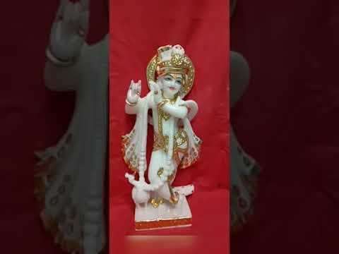 Krishna White Marble God Statue