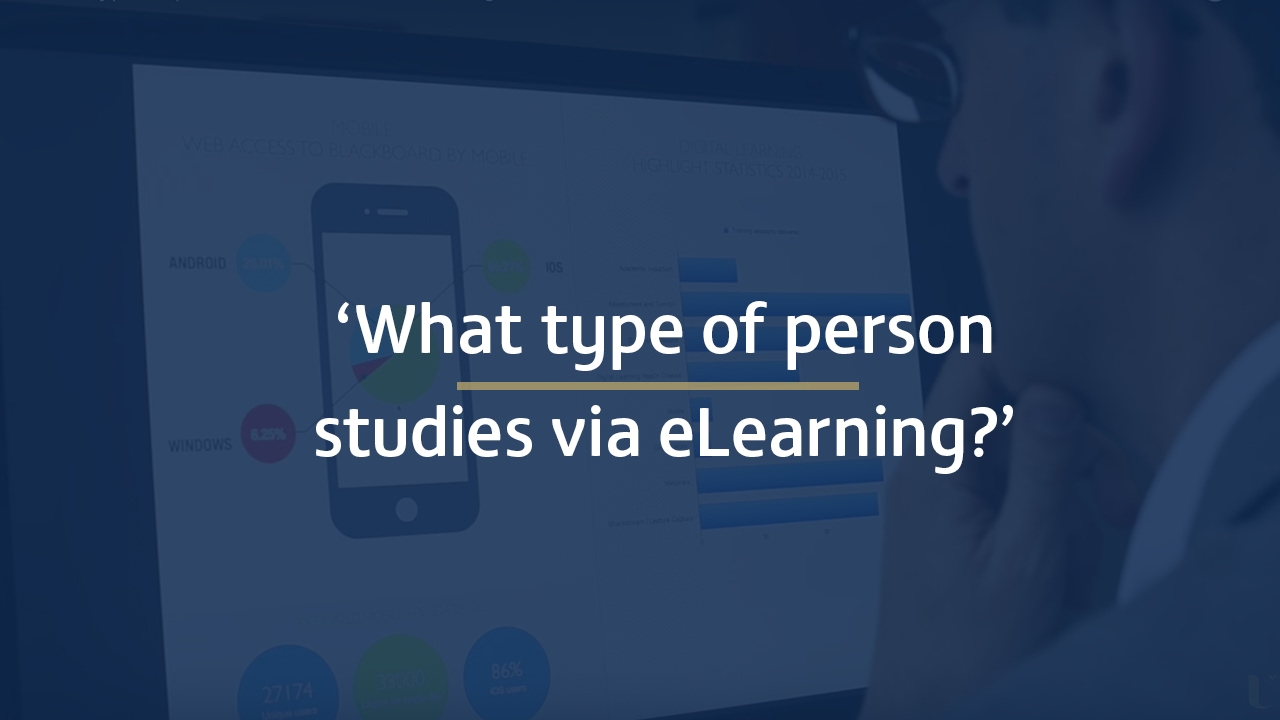 What type of person studies via eLearning?