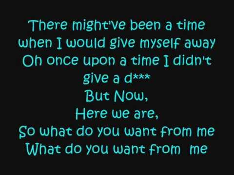 Whataya Want From Me : Adam Lambert : Lyrics!