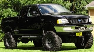 JACKED UP MUD TRUCK FORD F-150 ~ LIFTED MUDDER ~ 37X13.5X17 MUD TIRES/WHEELS