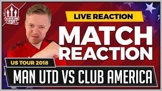 Manchester United 1-1 Club America | MATA Goal Saves It!