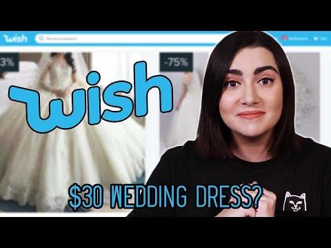 I Tried Wedding Dresses From Wish