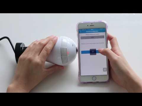 Hidden Light Bulb Panoramic 360 degree Wifi IP Video Panoramic HD Camera