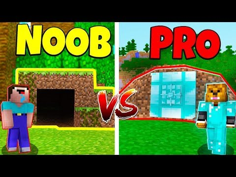 Minecraft Noob Vs Pro Secret Bunker In Minecraft