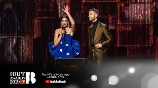 'One Kiss' By  Calvin Harris & Dua Lipa Wins British Single | The BRIT Awards 2019