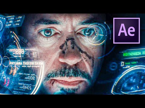 after effects iron man hud effect tutorial