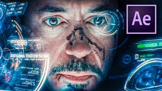 IRON MAN HUD EFFECT in After Effects (Tutorial)