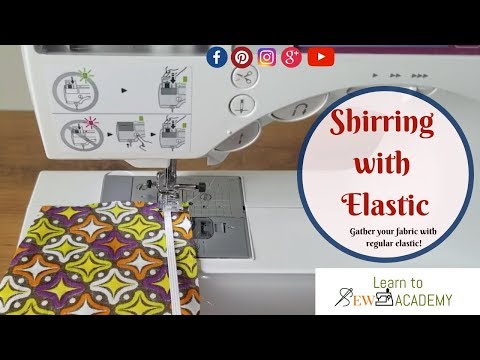 How to Gather Fabric (Shirring) with Regular Elastic | Quick Sewing Tips #11