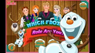 Disney puzzle  Games Which Frozen Role Are You- Baby Games for Kids