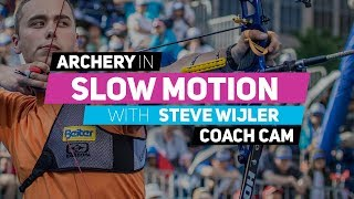 Archery in slow motion S01E08 BONUS: Steve Wijler (Coach Cam)