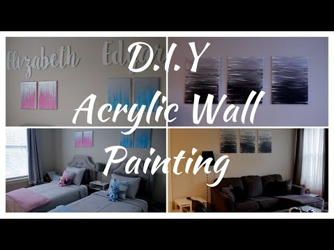 D.I.Y ACRYLIC WALL PAINTING
