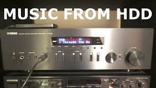 Yamaha Receiver R-N402D - Music from external HDD