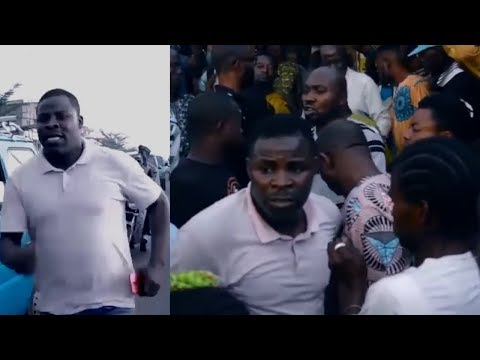 SEE HOW CROUD HOLD MUYIDEEN OLADAPO AS HE REACT TO HIS BOSS BURIAL FASASI OLABANKE DAGUNRO IN OSUN