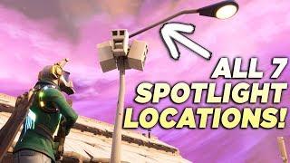 """ALL 7 STREETLIGHT SPOTLIGHT LOCATIONS! """"Dance Under Different Streetlight Spotlights"""" Fortnite"""