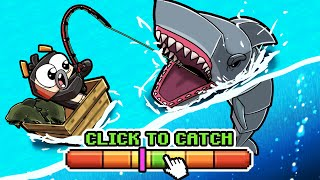 1 vs 3 FISHING CHALLENGE...JAWS SHARK ATTACK! (Minecraft)