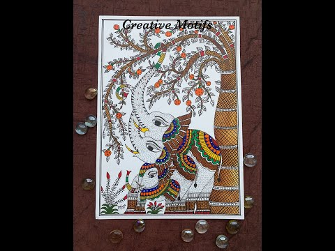 Simple Madhubani Painting