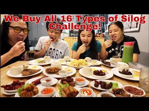 We buy all 16 Types of Silog Challenge Plus Fruit Salad at KKK Tapsihan Maubos Kaya? Pinoy Mukbang!