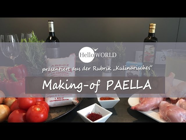 Das ist das Startbild vom Video für das Paella Rezept vom Camino del Norte.