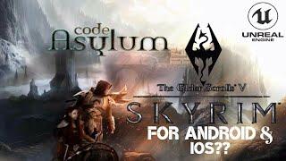 SKYRIM ON Android / ios - Code Asylum - OPEN BETA GAMEPLAY TRAILER